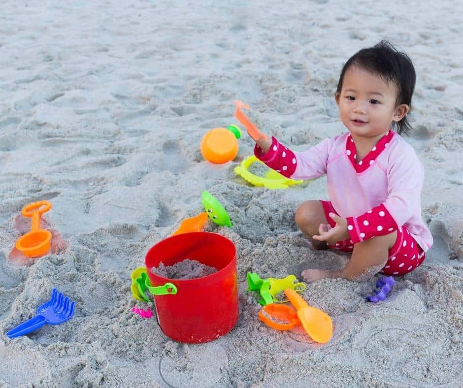 Sand Toys are great options to take camping with a baby