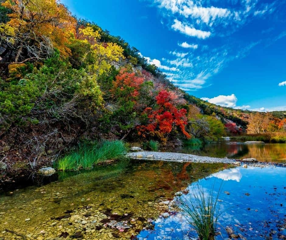 Lost Maples State Natural Area is a great place to enjoy Texas Fall Colors