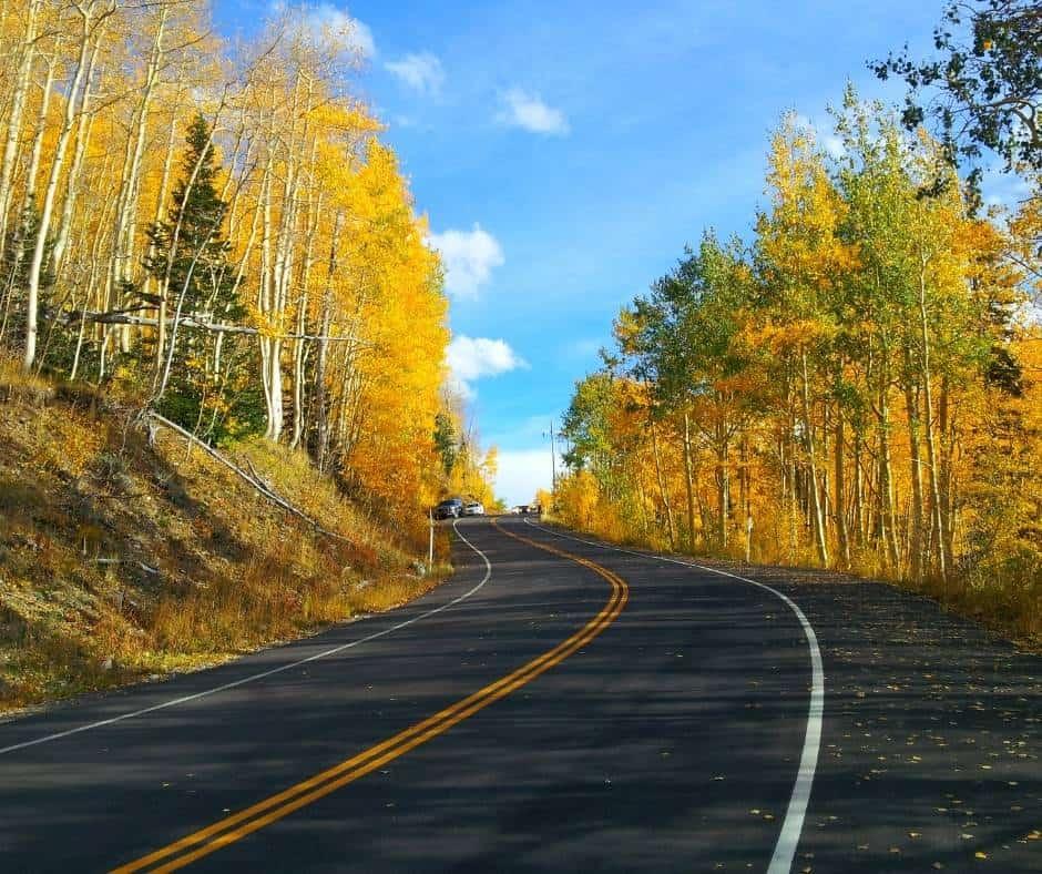 Guardsman Pass near Park City is a great place to enjoy Utah fall foliage