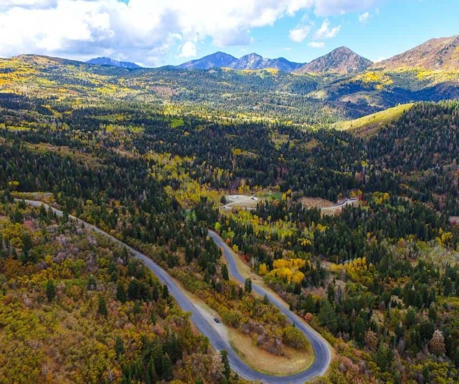 Utah fall colors on the Nebo Loop