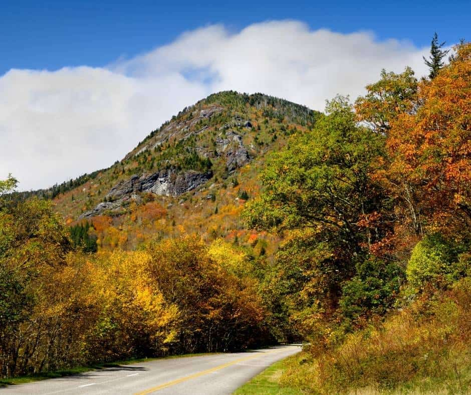 Mount Mitchell is a great place to enjoy North Carolina fall foliage
