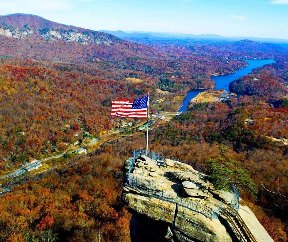 Chimney Rock in North Carolina
