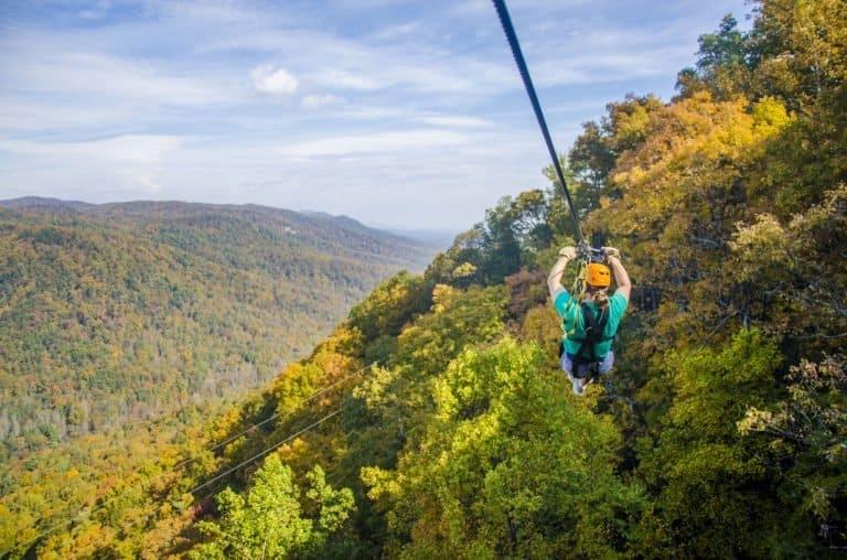 The Gorge Zip Line in North Carolina
