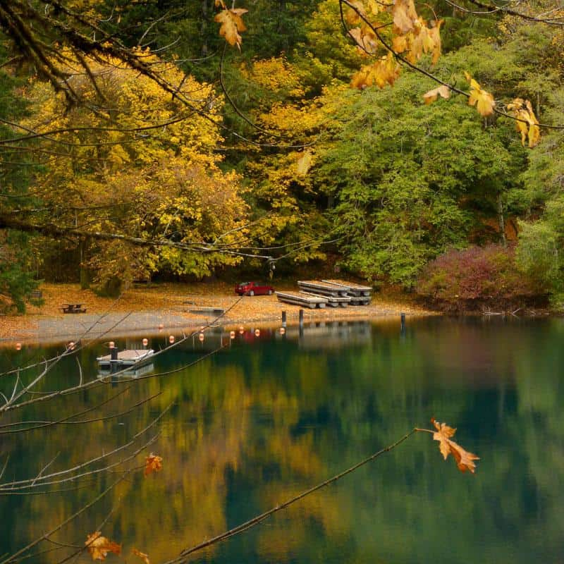 Lake Crescent during the fall