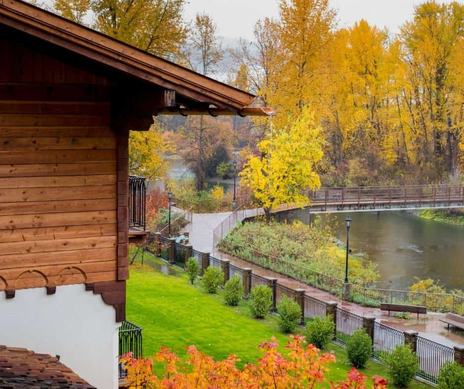 Leavenworth is a great destination for enjoying fall colors in Washington State